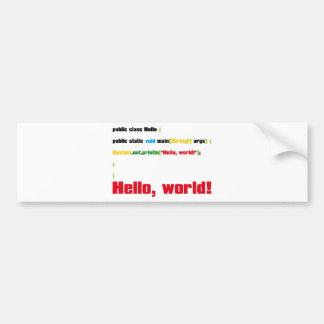 Hello, World! Bumper Sticker