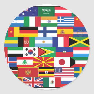 Hello World :) Classic Round Sticker