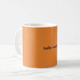 hello world! coffee mug