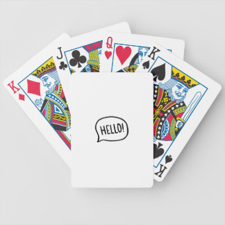 Hello! World! I am here Bicycle Playing Cards