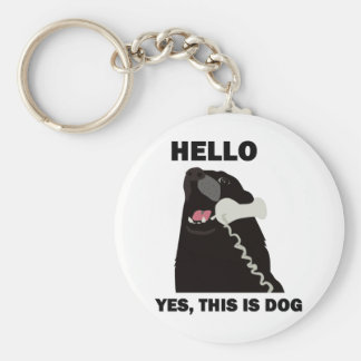 HELLO YES THIS IS DOG telephone phone Key Chains
