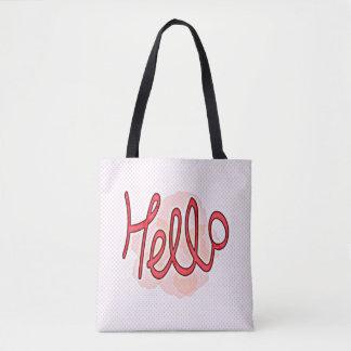 Hello, You! All-Over-Print Tote Bag