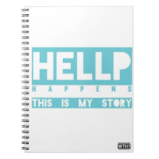 HELLP Happens (blue) Spiral Note Books