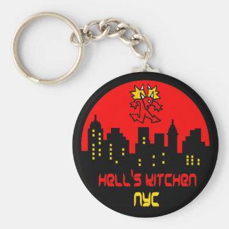Hell's Kitchen Devil Logo Key Ring