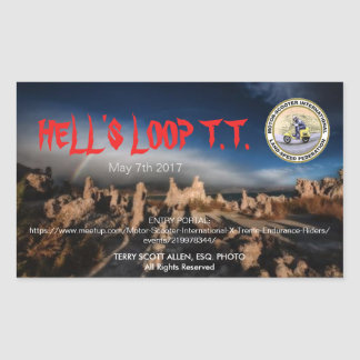 HELL'S LOOP T.T. STICKERS