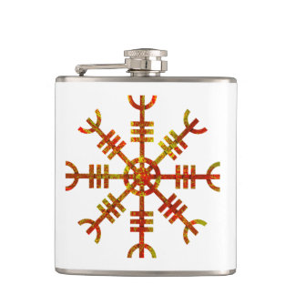 Helm Of Awe Ancient Viking Design Hip Flask