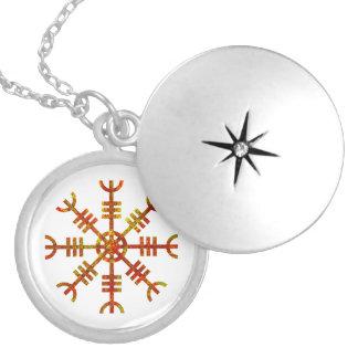 Helm Of Awe Ancient Viking Design Locket Necklace