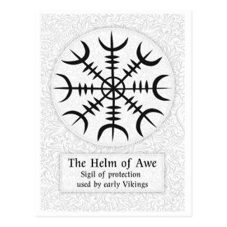 Helm Of Awe Icelandic magical sign - White Postcard