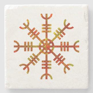 Helm Of Awe Norse Viking Symbol Stone Coaster
