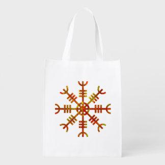 Helm Of Awe Viking Symbol Reusable Grocery Bag