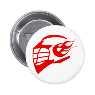 Helmet 6 Cm Round Badge