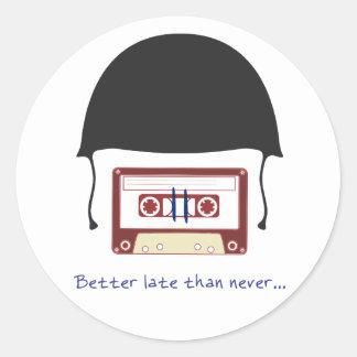 helmet classic round sticker