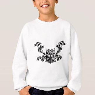 Helmet Coat of Arms Heraldic Crest Sweatshirt