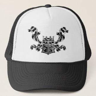 Helmet Coat of Arms Heraldic Crest Trucker Hat
