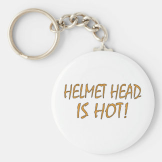 Helmet Head Is Hot Basic Round Button Key Ring