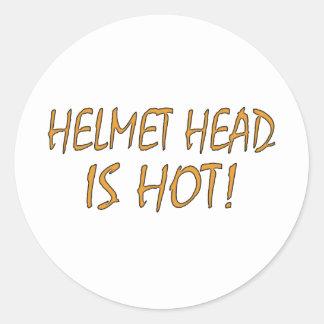 Helmet Head Is Hot Classic Round Sticker