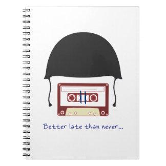 Helmet notebook