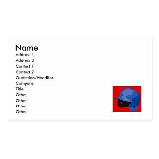 Helmet Pack Of Standard Business Cards