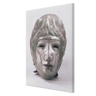 Helmet with Eagle Decoration, Roman (silver) Gallery Wrap Canvas