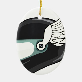 Helmet with wings ceramic ornament