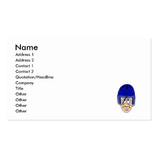 Helmet with wipers pack of standard business cards