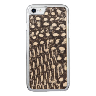 Helmeted Guinea fowl feather Carved iPhone 7 Case