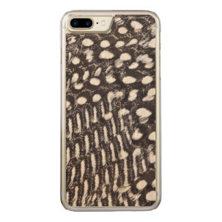 Helmeted Guinea fowl feather Carved iPhone 7 Plus Case