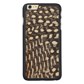 Helmeted Guinea fowl feather Carved® Maple iPhone 6 Plus Case