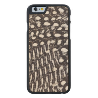 Helmeted Guinea fowl feather Carved® Maple iPhone 6 Slim Case