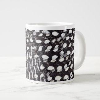 Helmeted Guinea fowl feather Large Coffee Mug