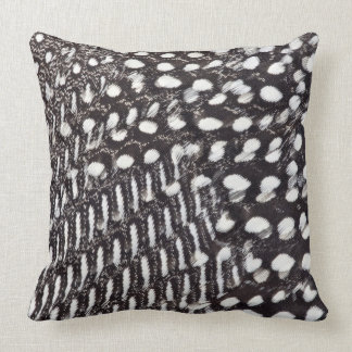 Helmeted Guinea fowl feather Throw Pillow