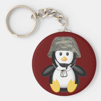 Helmeted Penguin Key Ring