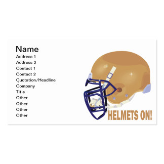 Helmets On Pack Of Standard Business Cards