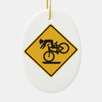 Helmets Recommended 1 Traffic Warning Signs USA Ornament