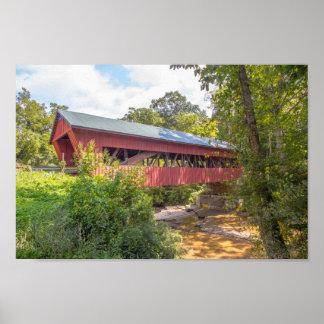 Helmick Mill (Island Run) Covered Bridge, Ohio Poster