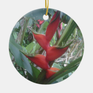 Heloconia Ceramic Ornament