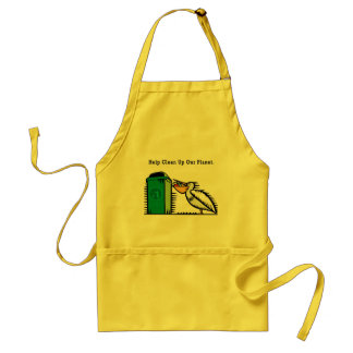 """Help Clean Up Our Planet"" Standard Apron"