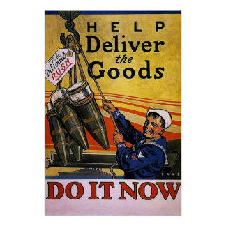 Help Deliver the Goods ~ Vintage WW1 Poster
