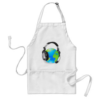 Help desk headset world globe aprons