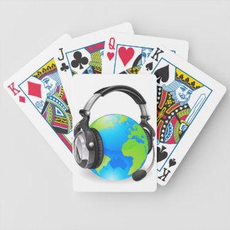 Help desk headset world globe card decks