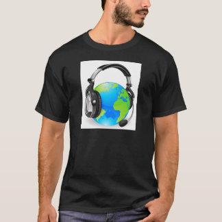 Help desk headset world globe T-Shirt