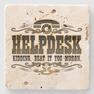 Help Desk Stone Beverage Coaster