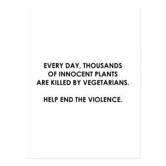 Help End The Violence Postcard