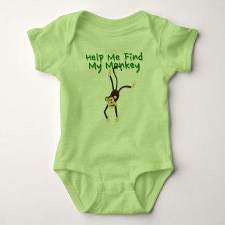 Help Find My Monkey Baby Bodysuit
