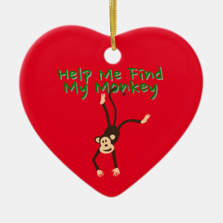 Help Find My Monkey Ceramic Ornament