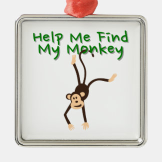 Help Find My Monkey Metal Ornament