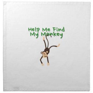 Help Find My Monkey Napkin