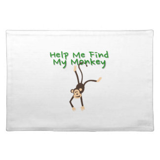 Help Find My Monkey Placemat