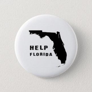 Help Florida after hurricane Irma 6 Cm Round Badge