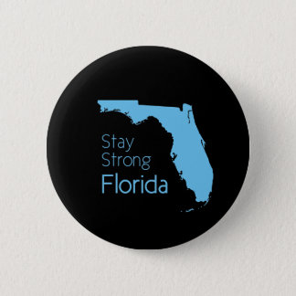 Help Florida after hurricane Irma black and blue 6 Cm Round Badge